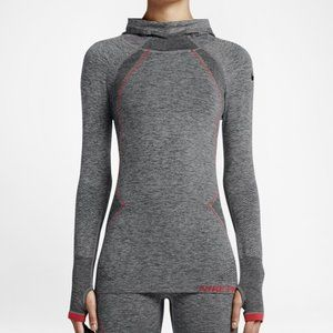 Nike Pro Hyperwarm 'Limitless' Fitted Seamless Pullover Hoodie Size Small